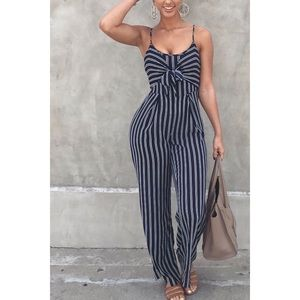 Other - 🌸Striped One-Piece Jumpsuit🌸